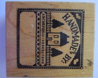 vintage rubber stamp - HANDMADE BY sampler - PSX e-892, circa 1988