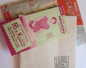 vintage WEAVER press cloth - in original package - circa 1940s to 1950s