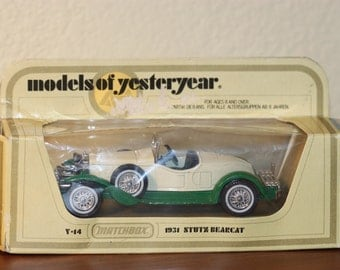 Matchbox Cars Models of Yesteryear Y-14 1931 Stutz Bearcat 1:43 Diecast Car New in Box 1978