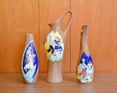 RESERVED vintage midcentury israeli tecramic mosaic pottery vases