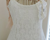 Jeanne d'Arc Lace covered beautiful dress/tunic. Romantic White Lace in M,L. Now on SALE 59.00