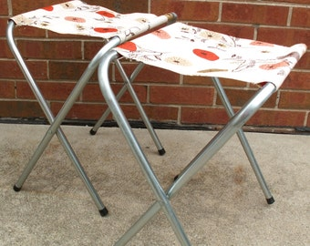 Two Vintage Camping Stools