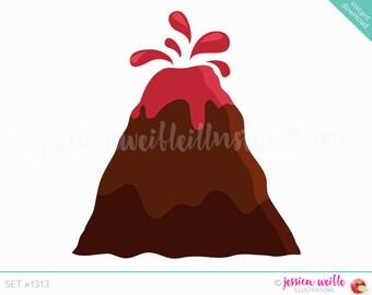Instant Download Volcano Cute Digital Clipart, Volcano Clip art, Volcano Graphics, Volcano Illustration, #1313