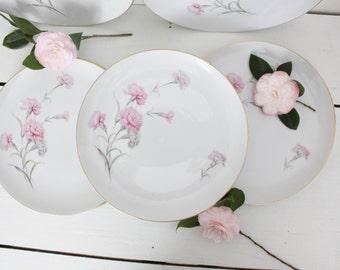 Pink Carnation Plates