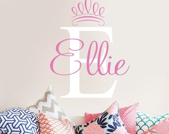 Bs Graphics Vinyl Wall Decals By Landbgraphics On Etsy - Monogram vinyl wall decals for girls