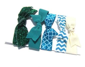 Set of 5 Hair Ties, Ponytail Holders, Elastic Hair Ties, Elastic Bracelet, Girl Baby Woman Ponytail Holder, Ponytail Elastic, Hair Band