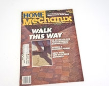Vintage Home Mechanix 1980s Magazine Home Improvement