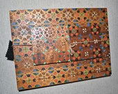 Handmade place mat/retro tableware/mat coaster set/ laser cut/upcycled wood mat/ handmade gift/bohemian decor/boho chic kitchen/ boho dining