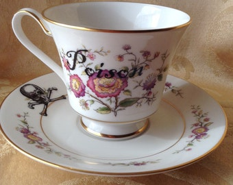 Steampunk Poison Tea Cup and Saucer