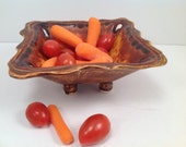 Serving bowl/small bowl/salsa bowl/nut dish/handmade bowl/ceramic bowl/footed bowl/pottery bowl/brown pottery/ready to ship