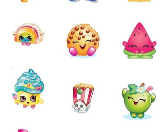 Edible Image - SHOPKINS Cookie OR Cupcake Toppers