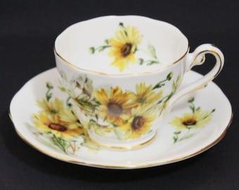 Royal Standard Brown-Eyed Susan Tea Cup and Saucer  (182-2)