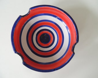 Mid century, Bitossi Raymor Italy ashtray op art
