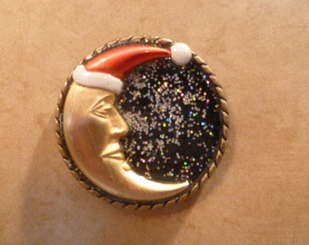Christmas Moon - Magnet
