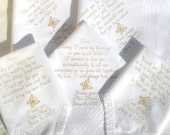 Rush order for Kristen Wedding Hankies Parents of the Bride & Groom By Canyon Embroidery on ETSY