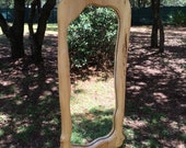 Wall Mirror~Wood Rustic Mirror~ Mirror~Free Form Mirror~Cabin Mirror~Entry Way Mirror~Wedding Gift~Unique Wall Mirror