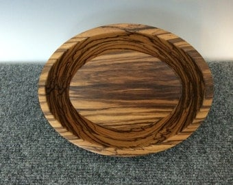 Wood Dish~Oval Wood Dish~Zebrawood Dish~Wood Candy Dish~Unique Wood Dish~Handmade Wood Dish~Wedding Gift