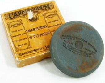 Carborundum Sharpening Stone Round Axe 196 Silicon Carbide Honing Tool