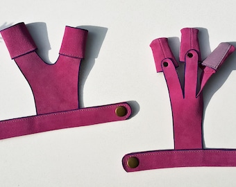 Archery Gloves Set - A Shooting Glove And A Bow Hand Protecting Glove