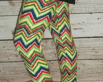Ladies Leggings - zig zag leggings, womens leggings