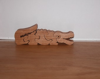 Toy Alligator Puzzle for Child  - Kid's Toy - Decor for Child - Kid's Puzzle