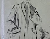 Vintage 1940's Swing Coat Pattern Butterick 5625