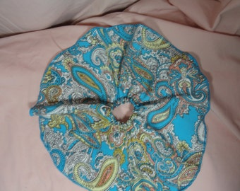 SD BJD Dollfie Circle Skirt Aqua Paisley