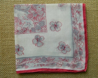 1 Vintage Hanky Good Vintage Condition  #2546