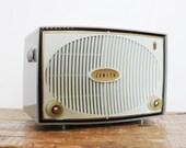 Vintage Tube Radio 1950s Mid Century Zenith Radio 1959 Sage Green 6B05