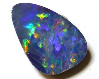 Boulder Opal Cabochon Doublet Australian Purple Magenta Rainbow Cobalt Blue Pin Fire Coober Pedy Confetti Free form One of a Kind