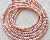 Brand New, Full 14 Inch Strand,Superb-Finest Quality Mystic Peach MOONSTONE Faceted Rondelles, 4-4.25mm size,Great Item