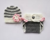 NewBorn Baby Crochet Outfit _ Baby Girl Coming Home Outfit _ Baby Boy Crochet Outfit _ NewBorn Baby Photo Prop Outfit