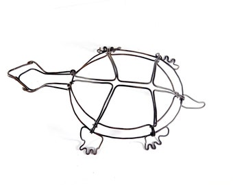 Turtle Wire Sculpture, Wire Art, Minimal Wire Sculpture