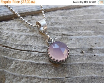 ON SALE Rose chalcedony in sterling silver