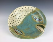 handmade ceramic decorative serving bowl