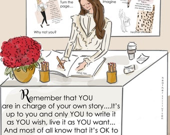 Wall Art for Women - In Charge of Your Own Story- Wall Art Print -  Art Print -  Wall Art -- Print