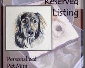RESERVED Personalized Pet Mini,Original Hand Painted, Decorative Portrait Ornament; Copper