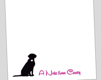 Labrador Personalized Notepad - Dog Stationery ~ 3 sizes