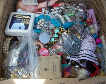 15+ lbs of Jewelry- Dolls Etc wearable - Pieces Parts Wear