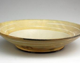 Pasta Bowl with White Stripes