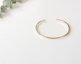 Simple Brass Stacker | Hammered Stacking Bracelet | Minimalist Cuff
