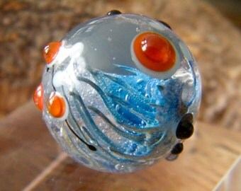 Blue Coral Focal Bead