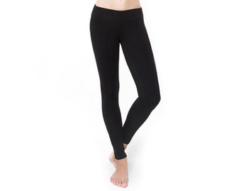 Black Leggings - Best Leggings - Organic Yoga Clothing - Organic Cotton Leggings - Best Leggings - Activewear - Athleisure - Yoga Clothes