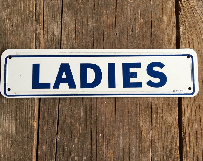 LADIES Vintage Sign Ladies' Room Restroom Metal Signage Bathroom