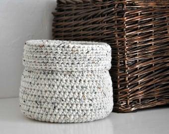 Oatmeal Basket Catchall Storage Bin Modern Decor Contemporary Design Log Cabin Decor Custom Colors