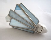 Catch a Star Baby Blue Hand Crafted Abstract Stained Glass Nightlight