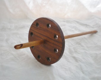 Split Notched Spindle, Bolivian Rosewood and Cherry, High Whorl 26g