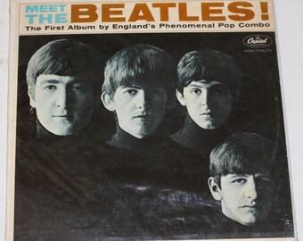 The Beatles vinyl record - Original Monophonic - Meet the Beatles vinyl - Vintage Record  Lp in Excellent Condition