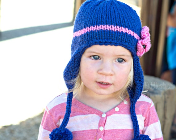 Knitting Pattern - Earflap Hat Pattern - the KIMBERLY Cap ...
