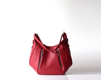 Soft Leather Handbag OPELLE Baby Ballet Bag
